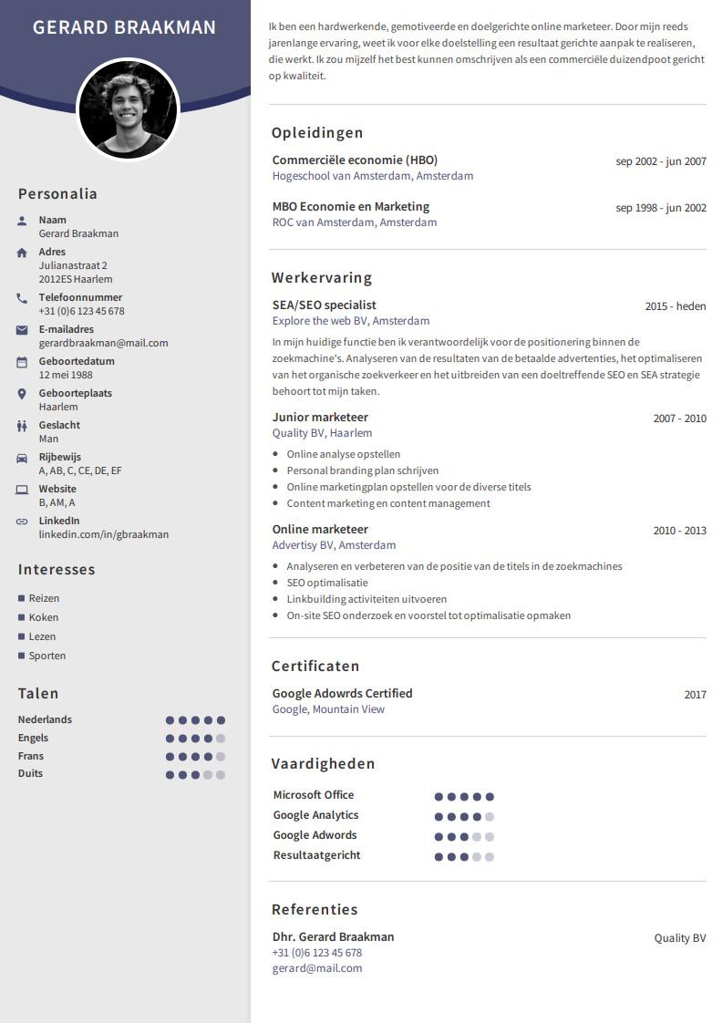 opstellen cv Professioneel CV Maken?   Makkelijk met onze CV maker